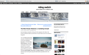 Riding Switch blog